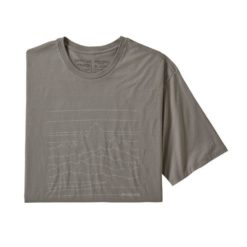 Patagonia Up High Endurance Organic Cotton T-Shirt Feather Grey FEA 38538